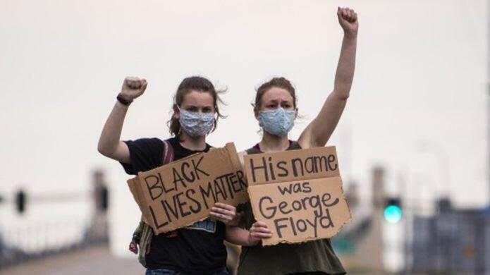 امریکا میں سیاہ فام شہری کی ہلاکت پر مظاہرے