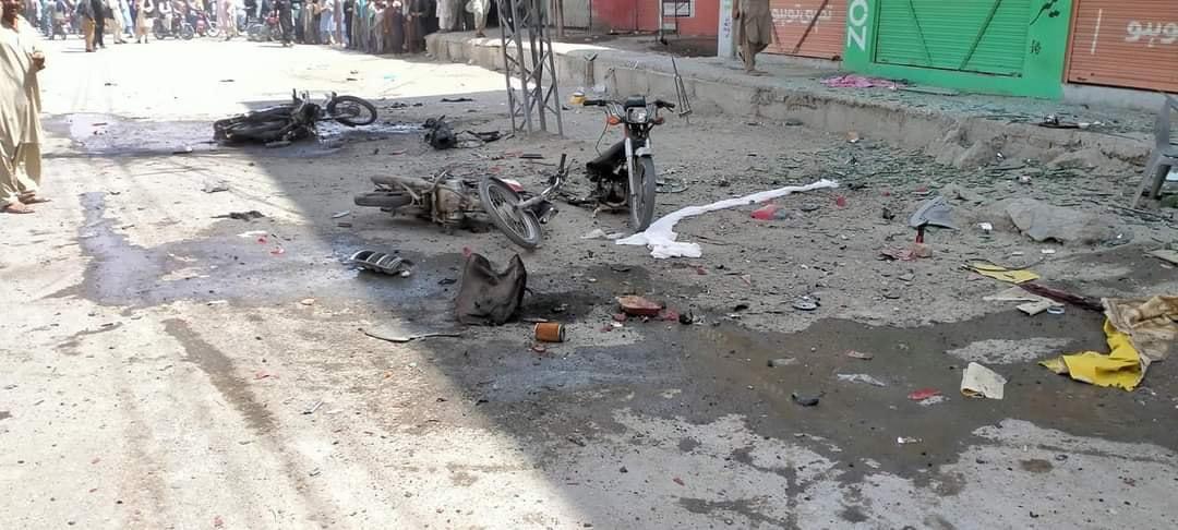 چمن میں مال روڈ پر دھماکا 5 افراد شہید 10 زخمی