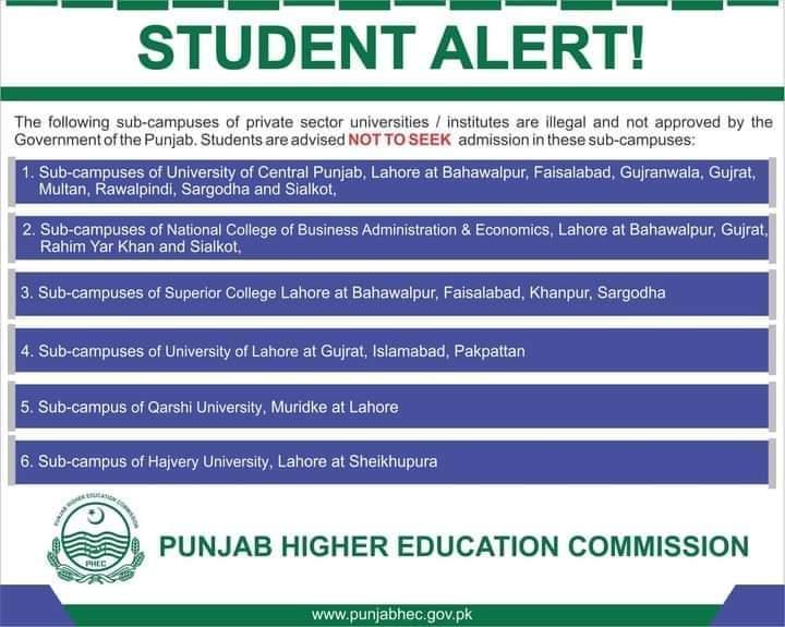 طلبا کو لوٹنے والی سینکڑوں یونیورسٹیوں کے کیمپس غیر قانونی قرار