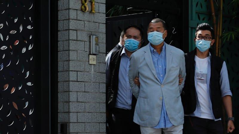 ہانگ کانگ میں میڈیا ٹائی کون کو گرفتار کر لیا گیا