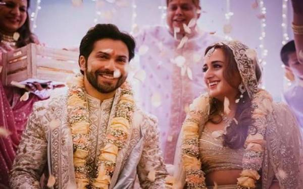بالی ووڈ اداکار ورون دھون شادی کے بندھن میں بندھ گئے
