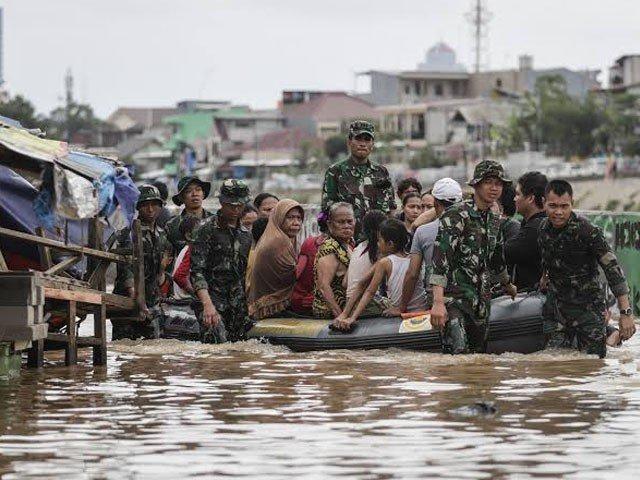 انڈونیشیا میں سیلاب نے تباہی مچادی، 44 افراد ہلاک