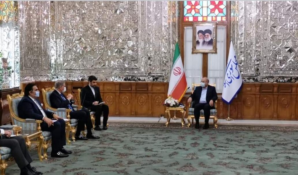 ایران کے صدر ڈاکٹر حسن روحانی سے پاکستانی وزیر خارجہ شاہ محمود قریشی سے ملاقات