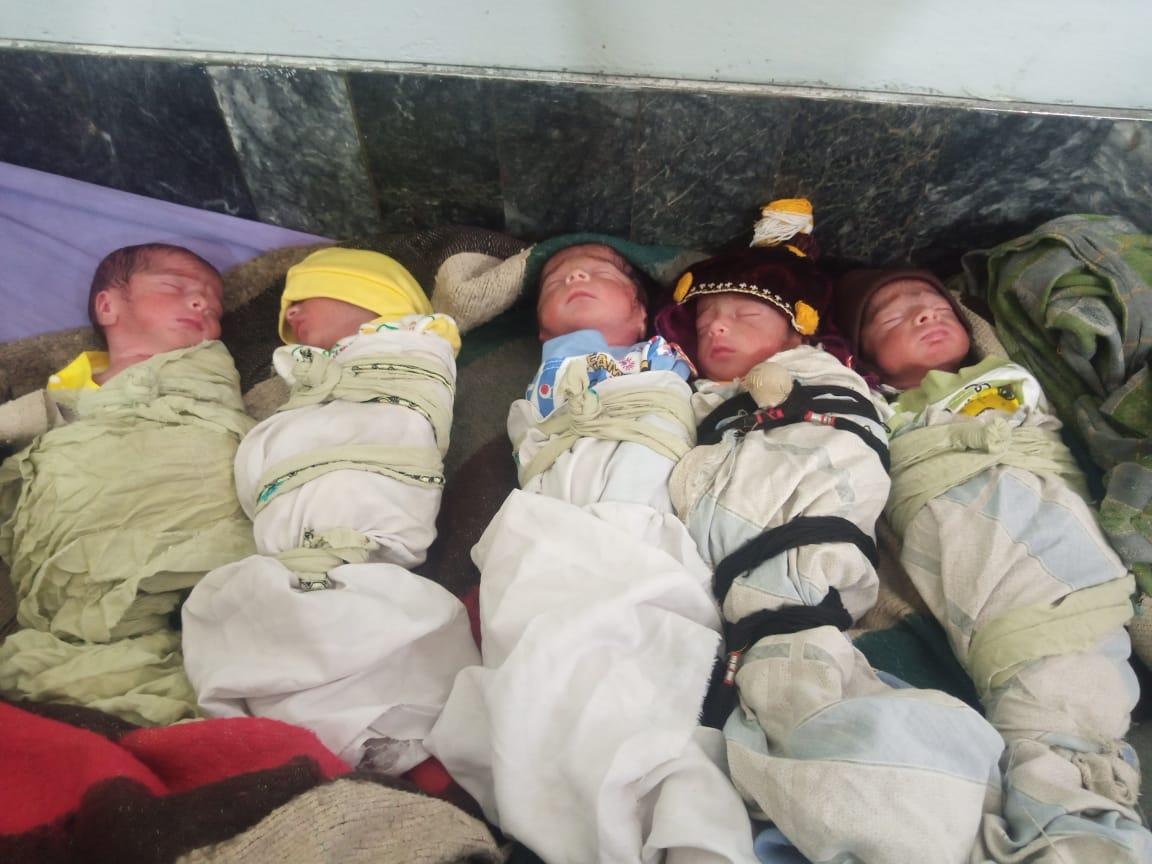 رمضان کی برکت پشاور میں ایک ساتھ 5 بچوں کی پیدائش