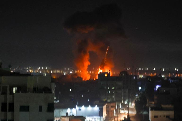 اسرائیل نے فلسطین پر پھر سے فضائی حملے شروع کر دیے