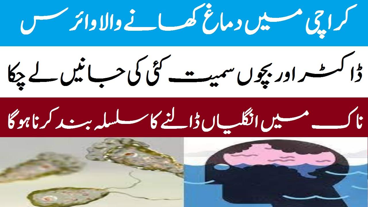 کراچی میں دماغ کھانے والا وائرس شہریویں کی جانیں لینے لگا