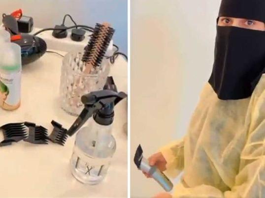 سعودی عرب میں بچوں کے بال کاٹنے والی خاتون کی ویڈیو وائرل