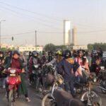 کراچی میں پولیو سے آگاہی کے لیے لڑکیوں کی سائیکل ریلی